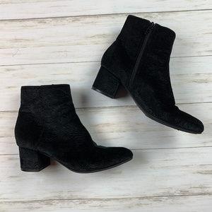 Unisa Black Fabric Boots, Size 6M
